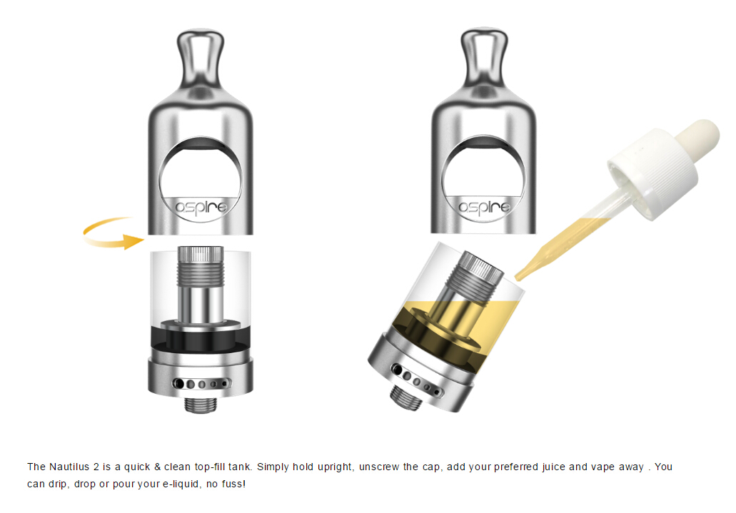 How to refill Nautilus 2 and change coil? – Aspire Help Center